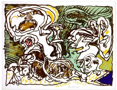 Litografía Alechinsky - La dernière coquille
