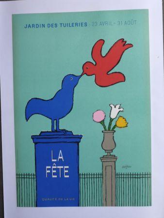 Cartel Savignac - La fête au jardin des Tuileries