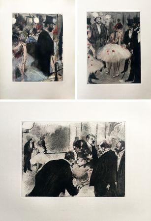 Libro Ilustrado Degas - LA FAMILLE CARDINAL. Illustré d'un portrait et de 32 monotypes en noir et en couleurs par EDGAR DEGAS (1938).