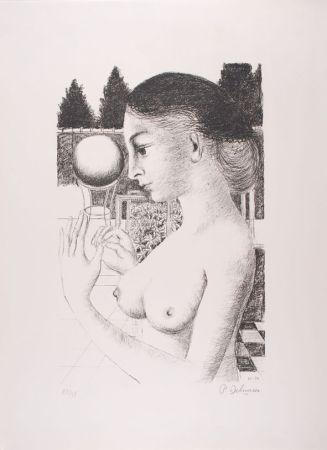 Litografía Delvaux - La Femme à la Boule