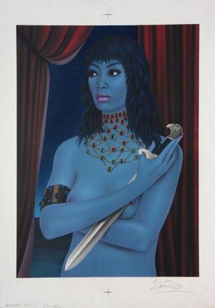 Litografía Labisse - La Femme avec un Couteau (BAT) - Woman with a Dagger