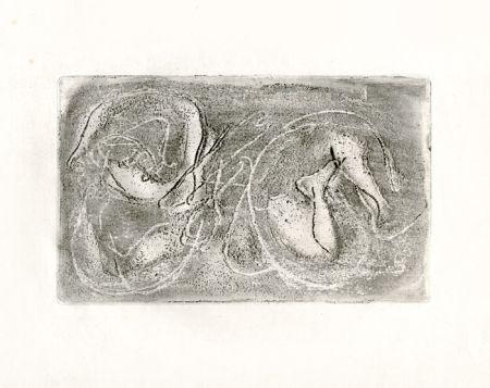 Aguafuerte Fautrier - La femme morte (Fautrier l'enragé)