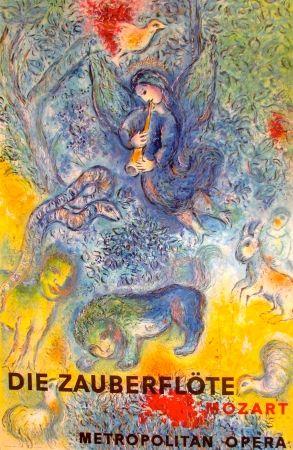 Litografía Chagall - La flûte enchantée, Die Zauberflote (Metropolitan Opera)
