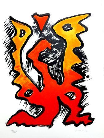 Litografía Ray - La Flamme