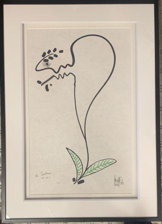Litografía Cocteau - La fleur