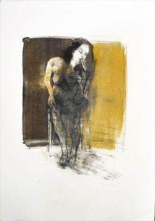 Litografía Hohler - La Fumeuse
