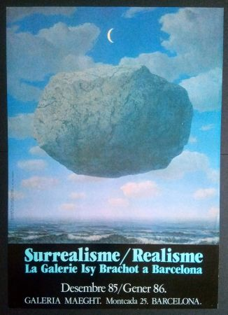 Cartel Magritte - LA GALERIE ISY BRACHOT A BARCELONA - MAEGHT 1986