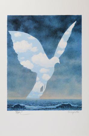 Litografía Magritte - La Grande Famille (The Large Family)