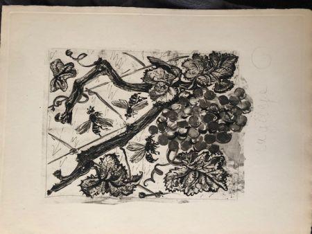 Aguatinta Picasso - La guêpe