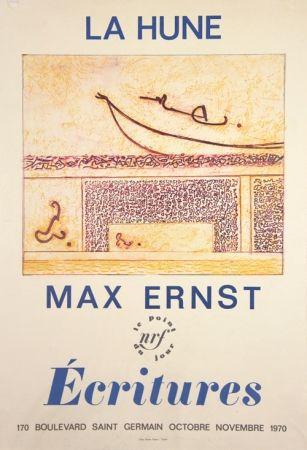 Litografía Ernst - La Hune  Ecritures