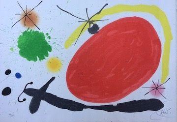 Litografía Miró - La Japonaise
