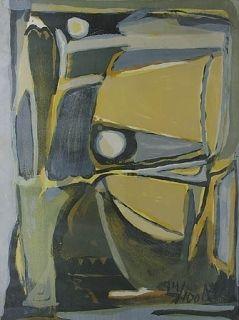 Litografía Van Velde -  la jaune