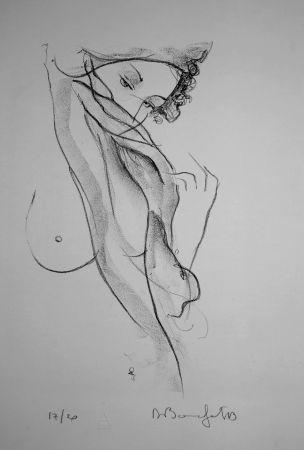Litografía Bonnefoit - La jeune Fille au voile / The Girl with a Veil