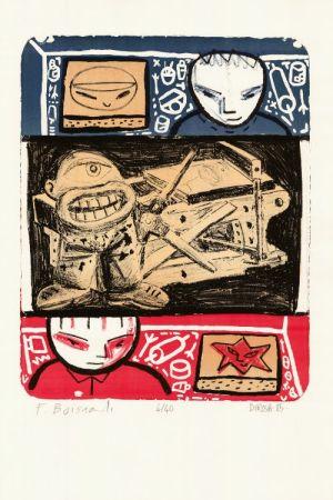 Litografía Di Rosa - La Leçon de lithographie