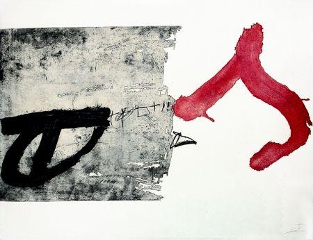 Grabado Tàpies - La lettre S