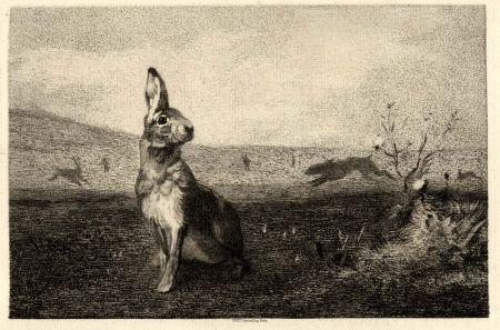 Grabado Bracquemond - La lièvre (The Hare)
