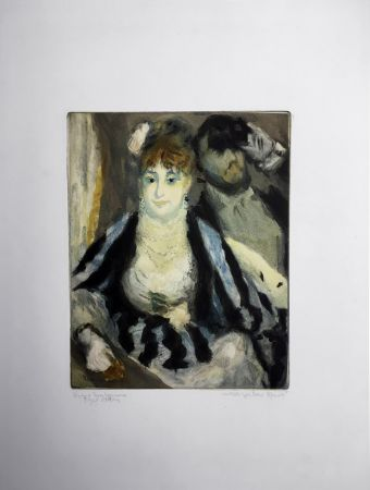 Aguatinta Renoir - LA LOGE (d'après Pierre-Auguste Renoir, gravé par Jacques Villon)