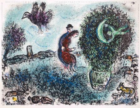 Litografía Chagall - La lune dans le bouquet