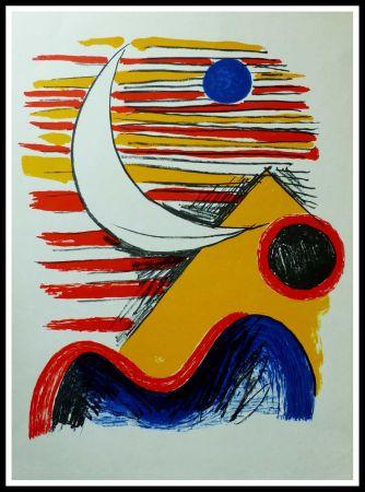 Litografía Calder - LA LUNE ET LA MONTAGNE