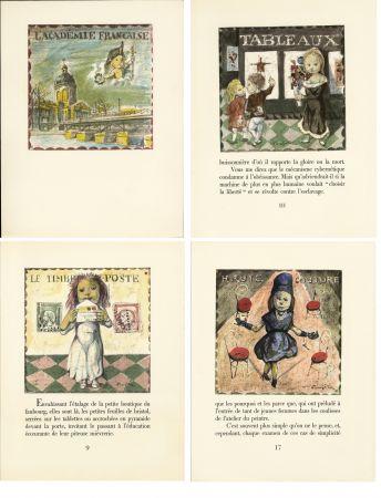 Libro Ilustrado Foujita - LA MÉSANGÈRE (Jean Cocteau) 21 lithographies. 1963. Ex. de luxe avec soie signée et suite couleurs