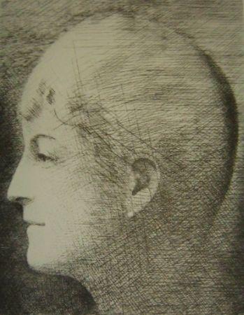 Grabado Marcoussis - La mère de l'artiste en 1900