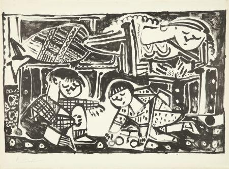 Litografía Picasso - La mère et les enfants
