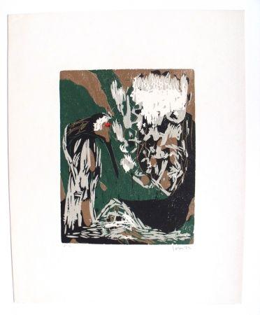 Grabado En Madera Jorn - La Mère Ibis