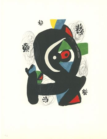 Litografía Miró - La mélodie acide - 2