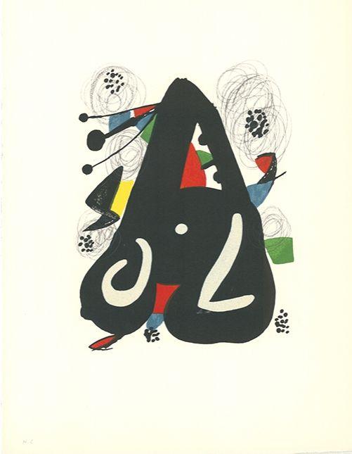 Litografía Miró - La mélodie acide - 9