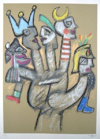 Serigrafía Matta - La main aux marionnettes