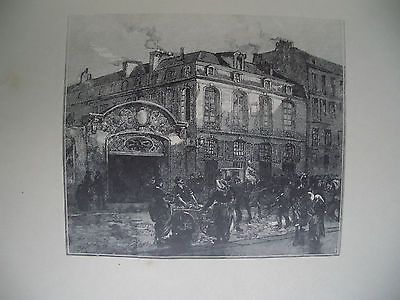 Grabado En Madera Lepere - La maison où mourut Béranger