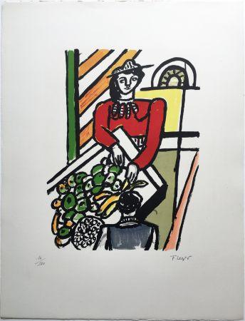 Litografía Leger - LA MARCHANDE DE QUATRE SAISONS (1959).