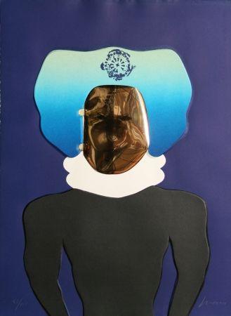 Talla En Madera Cuevas - La Mascara from the Homage to Quevedo Portfolio