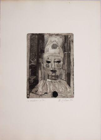 Aguafuerte Calandri - La maschera