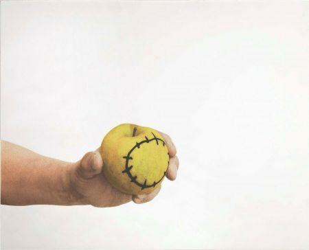 Serigrafía Pistoletto - La mela reintegrata