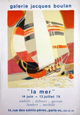 Litografía Ambille - La Mer  Galerie Jacques Boulan