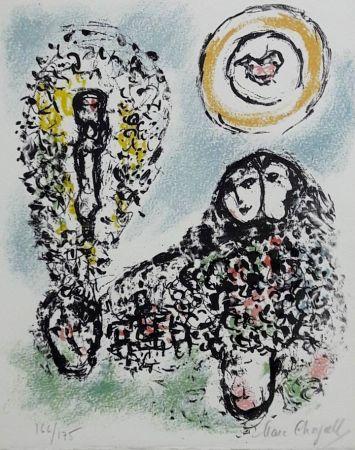 Litografía Chagall - La Mise En Mots