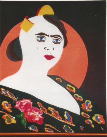 Litografía Arroyo - La moglie del Minatore p. Martinez, Constantina