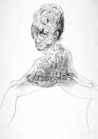 Litografía Bellmer - La morte