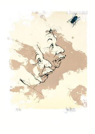 Litografía Blanchard - La Mouche