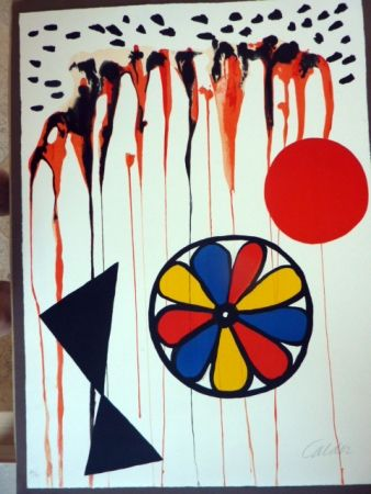 Litografía Calder - La Mousson