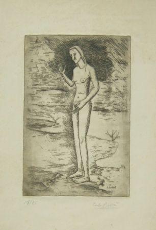 Grabado Carra - La nascita di Venere, 1923