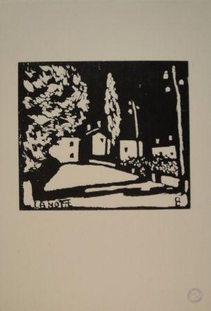 Grabado En Madera Giacometti - La Notte I