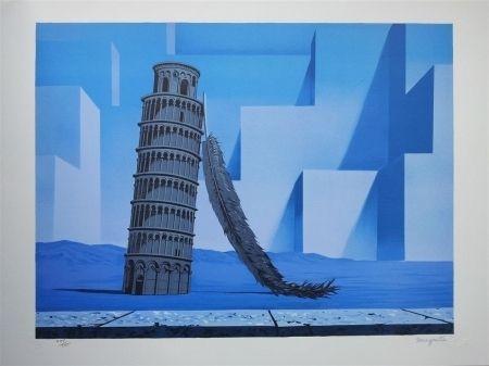 Litografía Magritte - La nuit de Pise (night in Pisa)