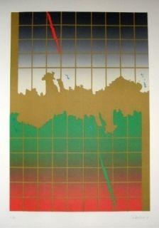 Litografía Lopez Osornio - La otra geometria 8