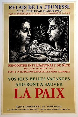 Litografía Picasso - La Paix - Relais de la Jeunesse