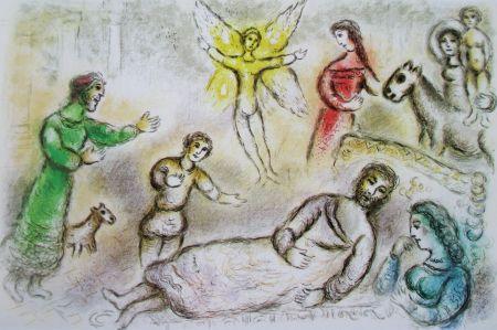 Litografía Chagall - La Paix Retrouvee - L'odyssee Ii