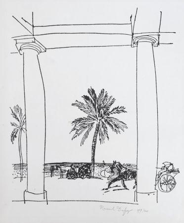 Litografía Dufy - La Palais de la Méditerranée