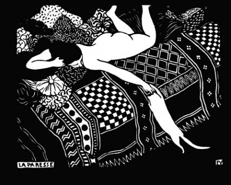 Grabado En Madera Vallotton - La paresse