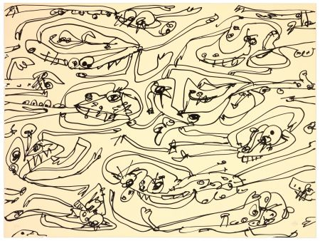 Litografía Saura - La paresse